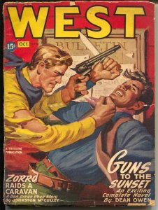 West 10/1946-Thrilling-hero pulp-Zorro-Jackson McCulley-G/VG