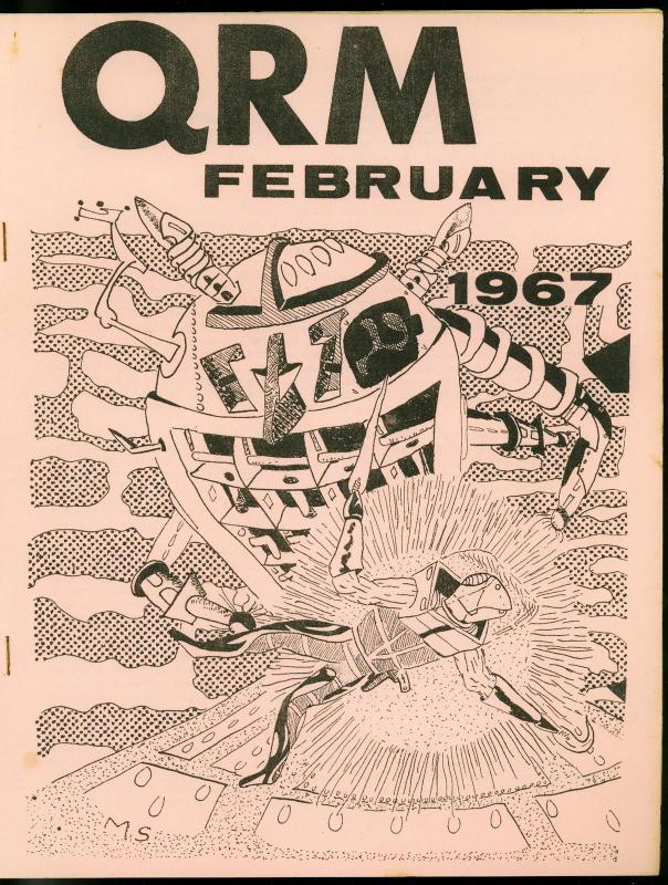 QRM Fanzine #1 February 1967-RARE SCIENCE FICTION Michael Symes FN
