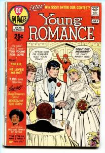 YOUNG ROMANCE #172 comic book 1971-DC COMICS-64 PG EDITION
