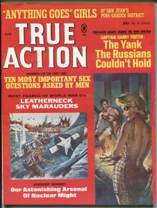True Action  3/1966-Atlas-spicy blond-Kunstler-Sue Weston-pulp-FN