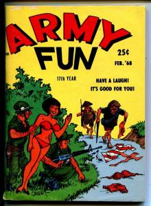 Army Fun 2/1968-Crestwood-military-spicy cartoons-jokes-Viet Nam-Orehek-FN