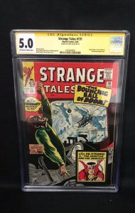 Strange Tales #131 (Marvel, 1965) CGC 5.0 SS Stan Lee
