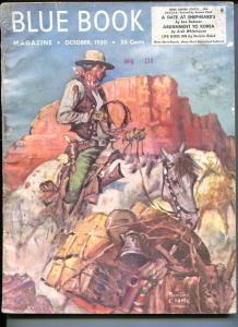 BLUE BOOK PULP-OCTOBER 1950-VG-CLARK COVER-WHITEHOUSE-BOND-SAX ROHMER VG