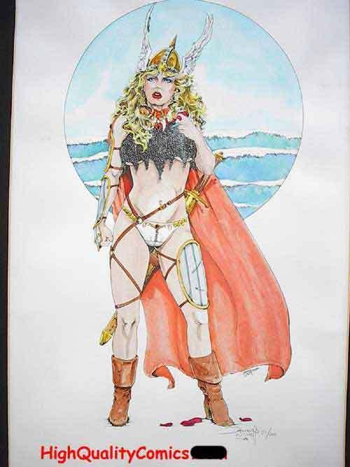 VIKING QUEEN, Limited, S&N'ed by Dameon Willich, #21/100, Blond