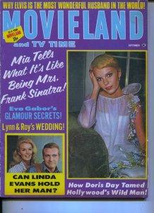 Movieland And TV Time-Mia Farrow-Elvis-Stephen Oliver-Doris Day-Sept-1967