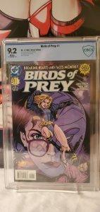 Birds of Prey 1 CBCS 9.2 NM, 1st Series (DC 1999)