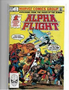 ALPHA FLIGHT#1 VF+ to VF/NM 1983 JOHN BYRNE MARVEL COMICS - COPPER AGE KEY
