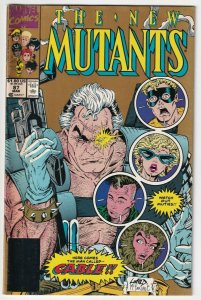 The New Mutants #87 March 1990 Marvel Gold Second Printing 1st Cable Stryfe