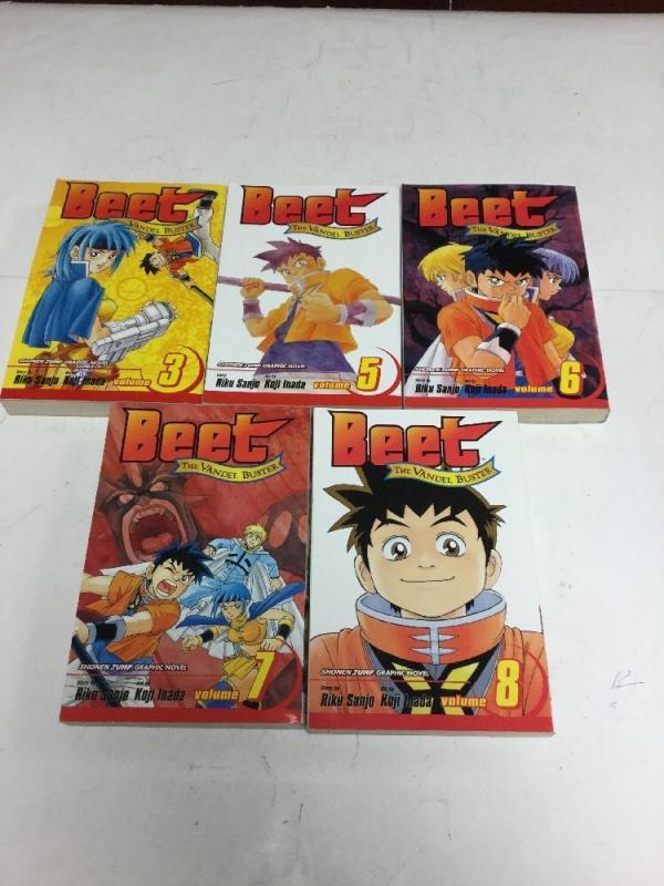 Beet The Candle Buster 3 5 6 7 8 Lot Set Nm Near Mint Graphic Novel Manga