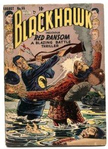Blackhawk Comics #55 1950- Golden Age Red Ransom G-