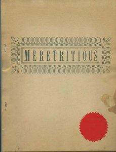 MERETRITIOUS - (Los Angeles Science Fiction Society, 1960) Very Rare!