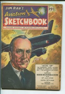 JIM RAY'S AVIATION SKETCHBOOK #1-1946-GREAT-GOLDEN AGE FN/VF
