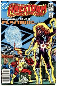 Fury Of Firestorm #7-1982-first Plastique-arrow Tv Show-dc VF-