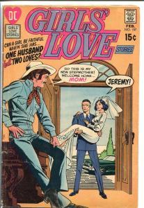 GIRLS' LOVE STORIES #157-DC ROMANCE-COWBOY COVER-LOOK VG