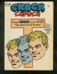 CRACK COMICS #45 1946-CAPTAIN TRIUMPH-HACK O'HARA-RARE  VF