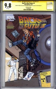 BACK TO THE FUTURE #1 CGC 9.8 SS CLAUDIA WELLS & FULLILOVE (only BTTF Day copy)