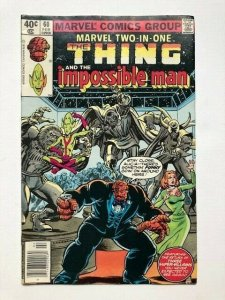 MARVEL Two in one THE THING and the IMPOSSIBLE MAN #60 newsstand ed. VG/F(A290)