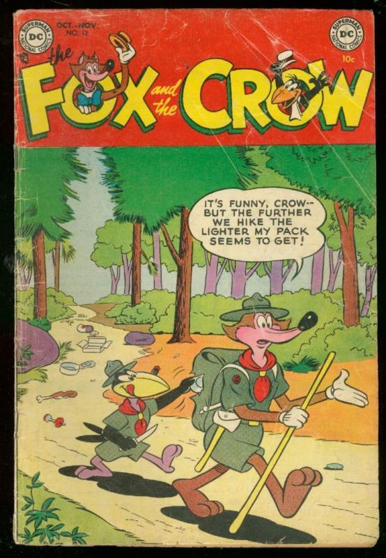 FOX AND THE CROW #12 1953-DC COMICS-FUNNY ANIMAL HUMOR VG