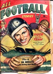 ALL FOOTBALL STORIES-#1-12/1947-SPORTS PULP G/VG