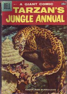 Dell Tarzan's Jungle Annual #7 (Jan-58) VG- Affordable-Grade Tarzan, Boy