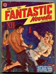 Fantastic Novels Pulp March 1950- Norman Saunders-Ray Cummings VG
