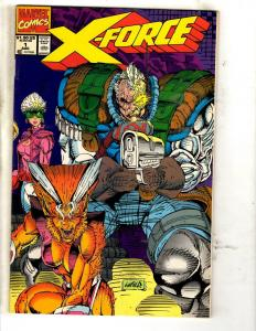 Lot Of 10 X-Force Marvel Comic Books # 1 4 5 6 7 8 9 10 12 13 X-Men Domino JD4