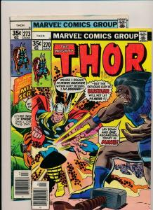 MARVEL LOT of 2- The Mighty THOR #273 & #270 1978 GOOD/VERY GOOD (PJ90)