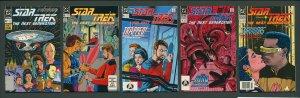 Star Trek Next Generation #1  #2  #3  #4  #5 (SET) 1989