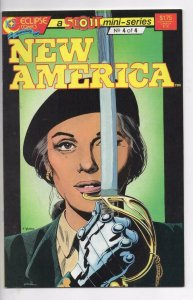 NEW AMERICA #4, VF/NM, Eclipse Comics 1987 1988 more Indies in store