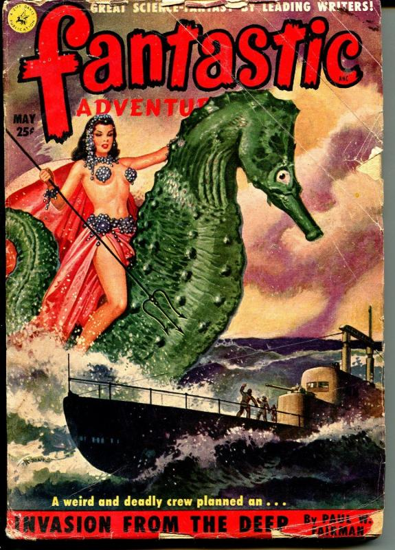 Fantastic Adventures 5/1951-pulp fiction-Good Girl art cover-G/VG
