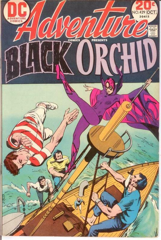 ADVENTURE 429 VG-F BLACK ORCHID Oct. 1973 COMICS BOOK