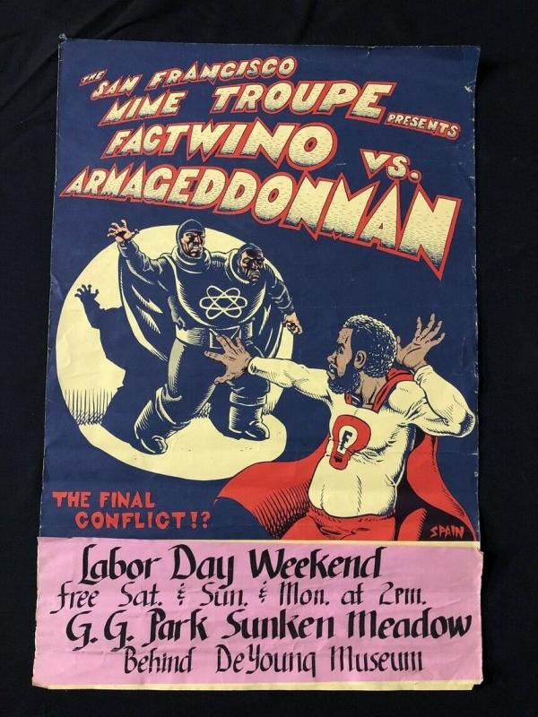 San Francisco Mime Troupe Factwino Poster SPAIN art