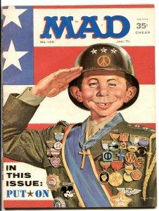 Mad Magazine #140 1971-Patton parody cover- VG/F