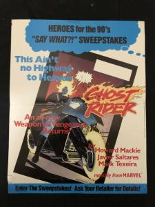 Ghost Rider Poster 1990 Marvel Comics- Sweepstakes