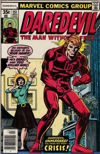 Daredevil 151 VF+ Reveals I.D. to Heather Glenn (Mar. 1978)