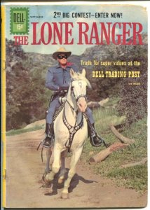 Lone Ranger #141 1961-Dell-Clayton Moore & Silver photo cover-FR