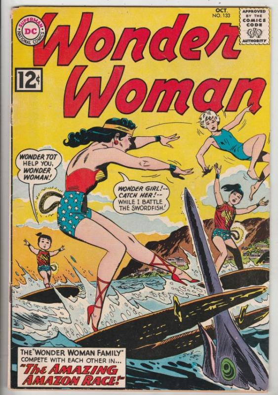 Wonder Woman #133 (Oct-62) VF High-Grade Wonder Woman