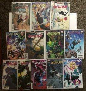 Ghost Spider 1 2 3 5 6 7 + Variants Spider Gwen 12 Book Lot