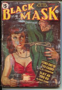 Black Mask 8/1943-Gun moll cover-Cornell Woolrich-pulp mystery-hardboiled-FR