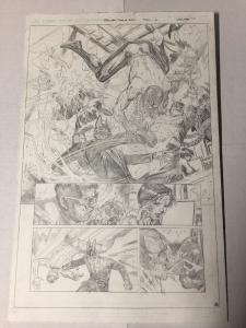 Spider-man Dead No More Clone Conspiracy 5 page 6 Original Art Jim Cheung Splash