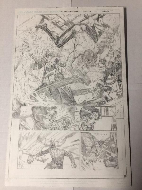 Spider-man Dead No More 6 Pg 6 Original Art Jim Cheung Splash Page Doc Ock