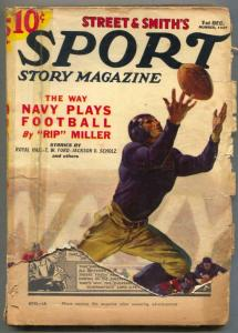 Sport Story Pulp 1st December 1937- Navy Football FAIR