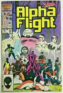 ALPHA FLIGHT#33 VF 1986 FIRST LADY DEATHSTRIKE MARVEL COMICS