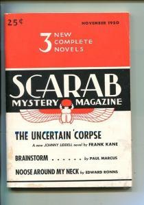 SCARAB MYSTERY-#1-NOV 1950-PULP-CRIME-SOUTHERN STATES PEDIGREE-vf minus