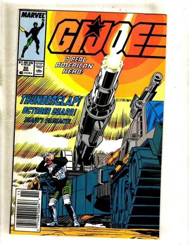 GI Joe # 92 VF/NM Marvel Comic Book Snake Eyes Storm Shadow American Hero WS9