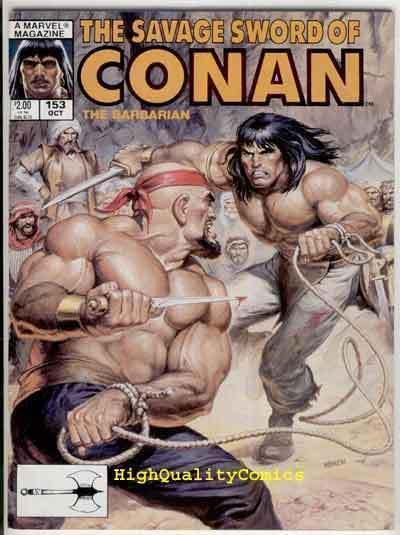 SAVAGE SWORD of CONAN #153 VF, Red Sonja, Blood, Norem, more SSOC in store