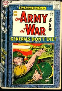OUR ARMY AT WAR #147-SGT. ROCK FR/G