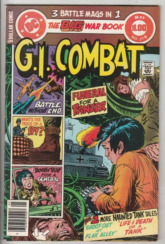 G.I. Combat #219 (May-80) VF High-Grade The Haunted Tank