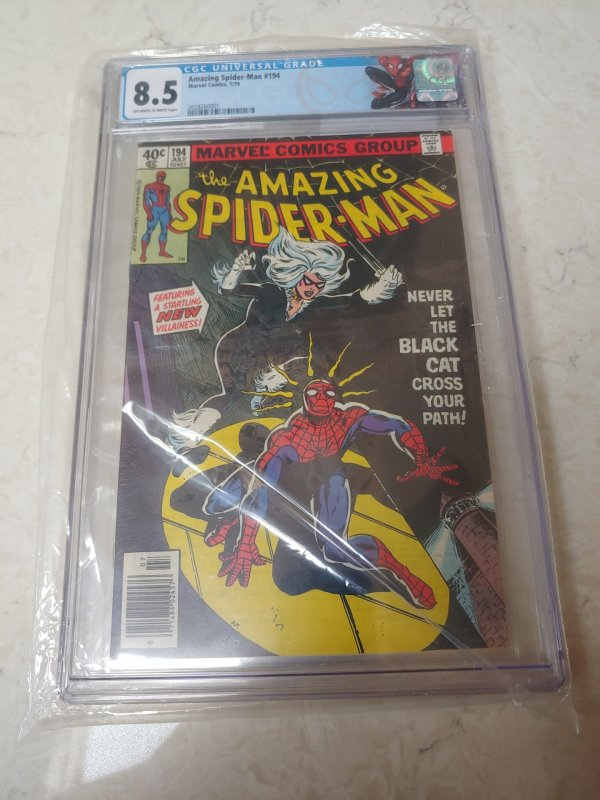 AMAZING SPIDER-MAN #194 CGC 8.5 1ST APPEARANCE OF THE BLACK CAT