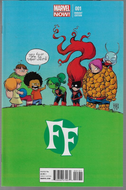 FANTASTIC FOUR #2 SKOTTIE YOUNG INVISIBLE WOMAN BABY VARIANT BABIES Marvel VF//NM